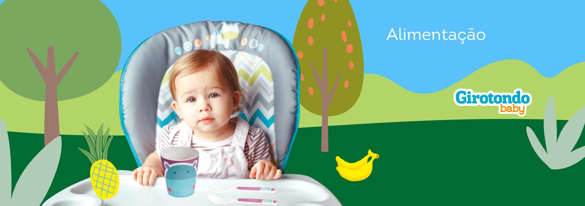 Produtos de alimentação da marca Girotondo Baby