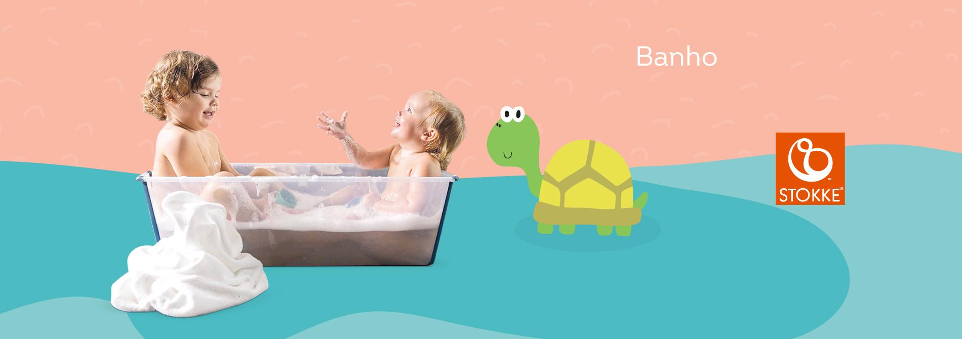 Produtos banho da marca Stokke
