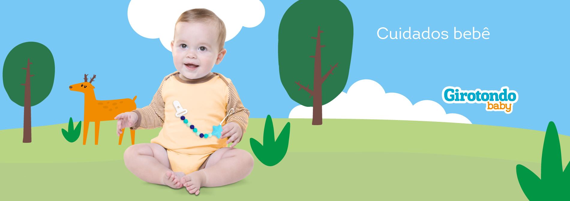Produtos de cuidados de bebê da marca Girotondo Baby